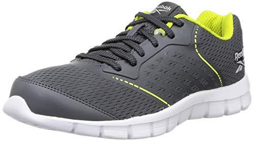 Reebok Men's Guide Stride Run Lp True Grey/Semi Solar Yellow Shoes- 9...
