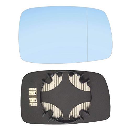 Preisvergleich Produktbild Rechts Blau Beifahrerseite Asphärish Spiegelglas mit Platte und Heizung AM-VNCO87-RWABH