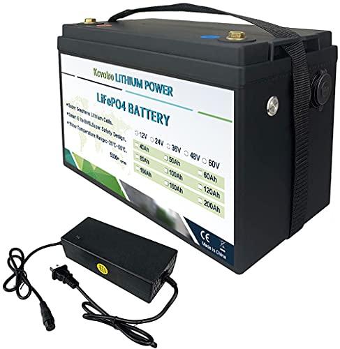 Batería de fosfato de hierro y litio de 12V 100Ah Batería recargable de ciclo profundo de 1280Wh BMS incorporado, muy adecuado para RV, solar, camping
