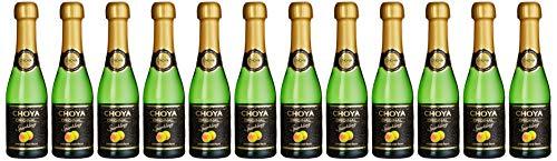 Choya Original Sparkling japanischer Pflaumenwein (Weinhaltiges Getränk, Ume Frucht, prickelnd, fruchtig, leicht süß, 5,5% vol.) 12er Pack (12 x 0,2 l)