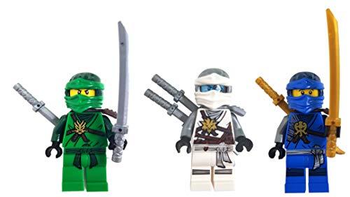 LEGO Ninjago - Juego de 3 figuras de Jay, Lloyd y Zane (día de los recuerdos), en caja de regalo
