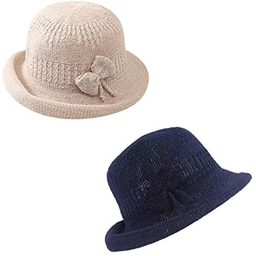 2 Uds., Sombreros Para El Sol Para Mujer, Sombrero Para Mujer, Sombrero de Paja de Verano Para Mujer, Sombrero de Playa de Ala Ancha, Sombrero de Paja Para Viajes Al Aire Libre Para Niñas,Beige/Black