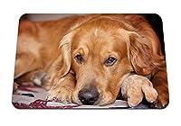 22cmx18cm マウスパッド (犬の口輪は待っている足耳に横たわる) パターンカスタムの マウスパッド