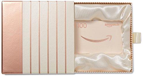 Amazon.de Geschenkkarte in Geschenkbox - 100 EUR (Roségold)