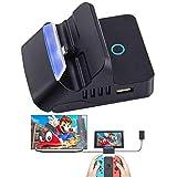 Colourfulstar Nintendo switch ドック スイッチ 充電スタンド ニンテンド ポータブルusbハブスタンド【HDMI変換/TVモード/テーブルモード】 最新システム対応 四階段調整スタンド 放熱 TV出力 切り替え 直接にTV出力 小型 アダプター  日本語説明書付き