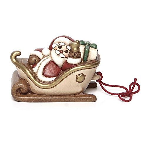 THUN - Slitta di Babbo Natale Piccola - Soprammobile da Collezione - Ceramica - I Classici