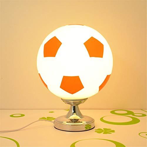 Voetbalbureaulamp, dimbaar, modern, voor woonkamer, slaapkamer, nachtkastje, rood en wit, E 27