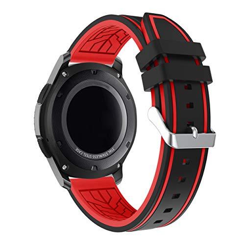 Lux Mary Armband kompatibel mit Garmin Vivoactive 4 (45MM) / Legacy Saga Darth Vader (45MM) / Legacy Hero First Avenger (45MM) Armband Uhr Band Strap Ersatzarmband Uhrenarmband (22mm, Wein)