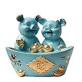 ALXLX Lucky Pig Adornos, Regalo Creativo Hogar Sala De Estar TV Gabinete Vinoteca Gabinete Personalidad Escritorio Objetos Pequeños Artesanía