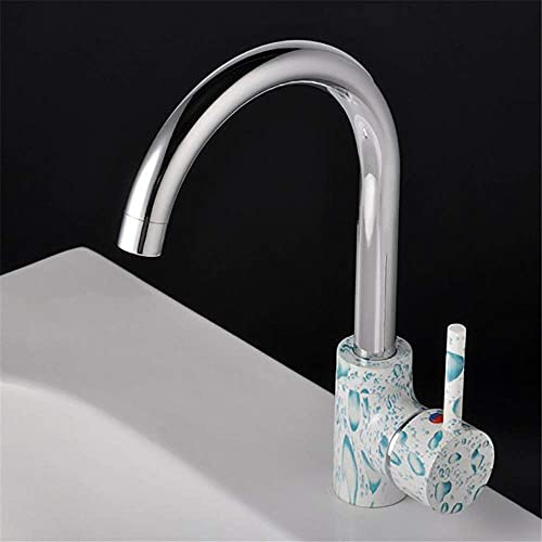 Home Kitchen Accessories Copper Kitchen Faucet Cold Water Mixer Basin Faucet Ozone Sterilization Kitchen Sink Faucet Chrome Plating Lifting Technology Can Rotate The Faucet Single Handle