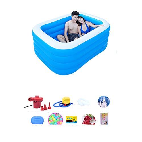 Grote Opblaasbare Badkuip Twee Personen Vouwen Volwassen Tub Staande Soaking Douche Basin Spa Tub Bad Barrel Dubbele Bad Grote Draagbare Gratis Lucht Zwememmer