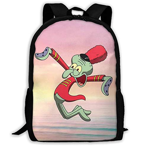 Mochila informal de salto personalizado con tentáculos de calamar, mochila de viaje