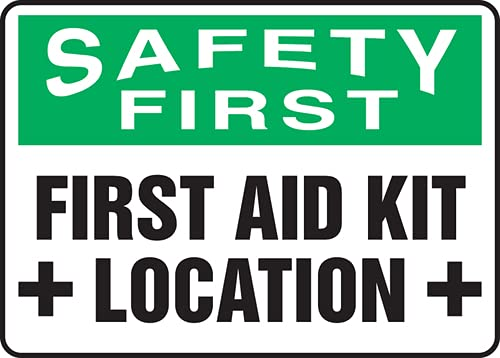 Jendco - OSHA Safety First New item Location Aid Beauty products Sign: 1 Kit