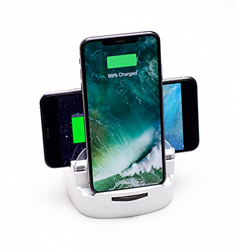 Lumicharge Fast Qi Wireless Charger Stand   10W Qi Certified Wireless Charging Pad and Phone Stand...