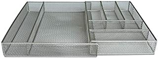 Trendy Loft Mesh Expandable Flatware and Utensil Drawer Organizer (6 to 7 Compartments)