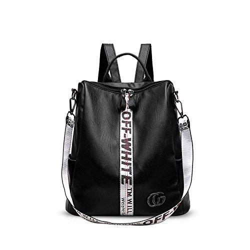 NICOLE & DORIS Damen Rucksack Frauenrucksack Modischer Umhängetasche Rucksack für Damen Fashion Handtaschen Schulrucksäcke Tasche Weiß