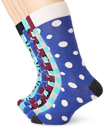 Happy Socks HS by HS Stone 5-Pack Socks Calze, Multicolore (Multicolour 670), 7/10/2019 (Taglia Produttore: 41-46) Uomo