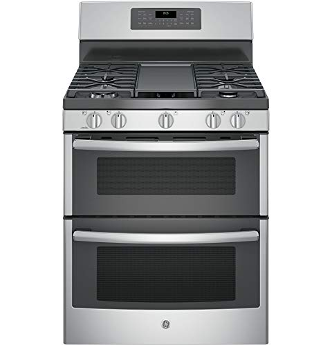 GE Appliances JGB860SEJSS 6.8 cu. ft. Freestanding Gas Double Oven Convection Range Stainless Steel- Refurbished