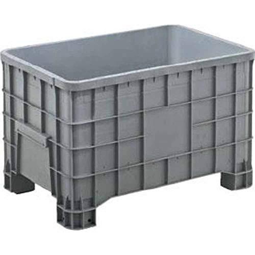 Cassone bins chiuso con 4 piedi Contenitore in plastica sovrapponibile in PHED litri 280 per l'industria leggera dimensioni mm.1000x640xh.655
