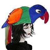 Lustige Kopfbedeckungen für Fasching, Partys od. Junggesellenabschiede - Hamburger, Papagei, Krokodil und Hähnchen (Papagei)