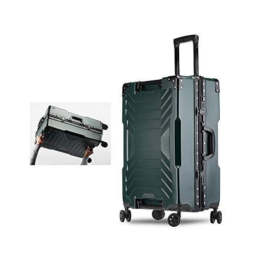 For Sale! XINGZHE Luggage Female Trolley Case Universal Wheel Tide Aluminum Frame Suitcase Male Student Password Boarding, Black, White, Silver, Yellow, Green Suitcase (Color : E)