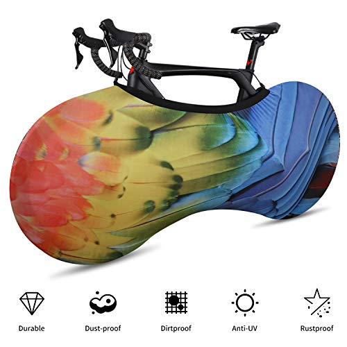 ICOCOPRO Bike Wheel Cover, Dustproof Indoor Bicycle Storage Bag, Washable Elastic Bike Wheel Cover Anti-Scratch Gear Wheel Tire Package for Mountain, Road, MTB Bikes