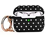 CAGOS Compatible with Airpods Pro Case, Cute Accessories Bling TPU Case Full Protective Hard Carrying Cover Women Girls with Shiny Crystal/Keychain for Apple Airpods 3 Charging Case (Black)