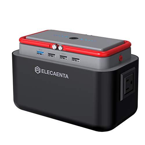 ELECAENTA ポータブル電源 大容量 45000mAh/167Wh 蓄電池 小型 ポータブルバッテリー AC/DC/USB出力 9つ出力ポート ソーラーパネル充電 アウトドア 地震停電 車中泊 キャンプ用品 非常用電源 PSE認証済み