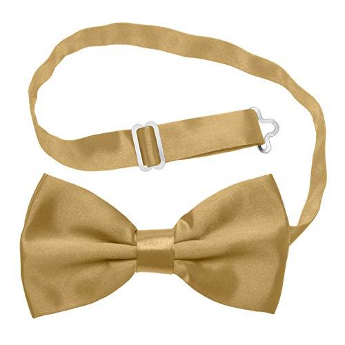 Cravatte da uomo, colori assortiti, con farfalla pre-annodata con cinturino regolabile, accessorio in raso e poliestere per matrimoni, feste