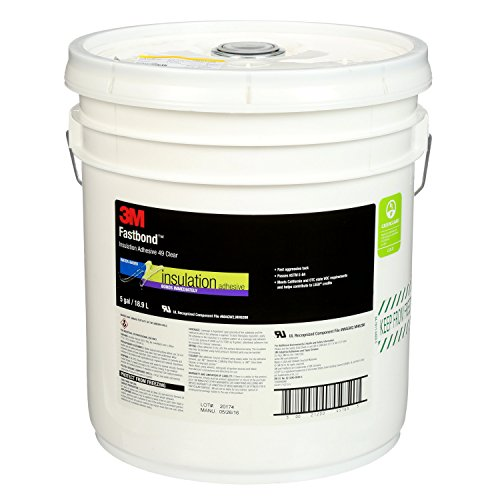 3M Fastbond Insulation Adhesive 49, Clear, 5 Gallon Drum (Pail)