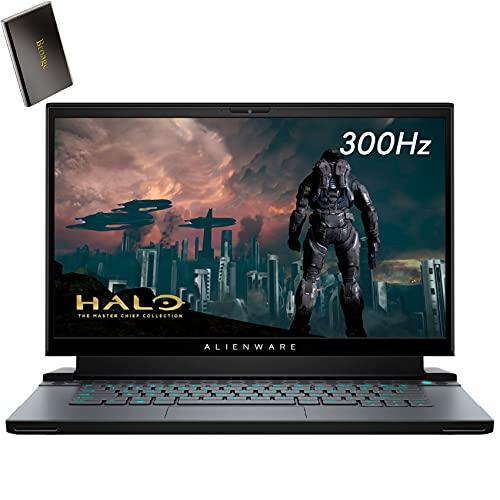 "Alienware M15 R4 RTX 3070 8GB GDDR6 15.6"" FHD 300Hz Gaming Laptop Computer, Intel 8-Core i7-10870H up to 5.0GHz, 16GB DDR4, 2TB PCIe SSD, WiFi 6, RGB Keyboard, Windows 10, BROAGE 500GB External HD"