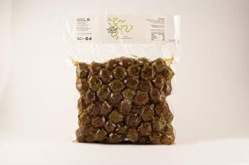 Olive Verdi Schiacciate Condite Nocellara del Belìce con olio 500g