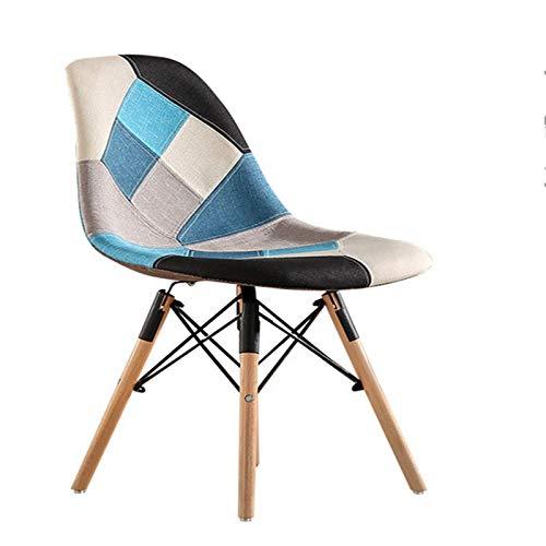 Tägliche Ausrüstung Esszimmerstuhl Mehrfarbig Moderner, weicher Stoffstuhl Esszimmerstuhl Patchwork Multi-Pattern Holzstuhl Esszimmerstuhl Stühle (Farbe: Farbe D Größe: 86x47x45cm)
