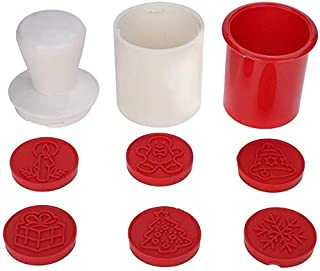 CHOUREN 6PCS Biscuit Cookie Baking Mold, Chocolate Dessert Round Cutter, Suitable for Kitchen(Red),Colour Name:Red (Color ...
