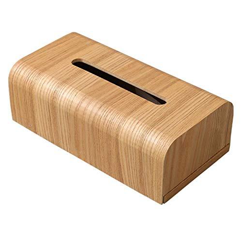 PKJP - Servilletero de papel extraíble para sala de estar, caja de pañuelos, mesa rectangular de madera, estilo japonés