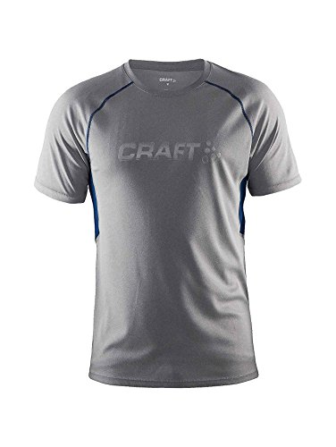 Craft Funktionsshirt Prime Short Sleeve Tee T-Shirt Fonctionnel Homme, Gris, XL
