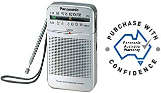 Panasonic Panasonic RF-P50D FM Portable Pocket Speaker Radio, Silver, (RF-P50DGC-S)