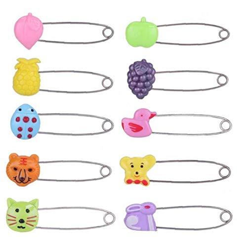 Angoter Plastic Head Sicherheitsnadel-sicherheits-zuhaltung Baby-Tuch-windel-windel-pins Brosche 4pcs