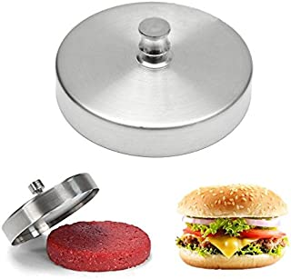 DeemoShop Creative Stainless Steel Non-Stick Stuffed Hamburger Beef Burger Press Mould Patty Grill BBQ Maker Mold Barbecue Kitchen Gadget