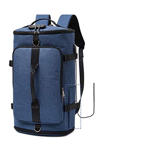 WEARRR USB Anti-Robo Gimnasio Mochila Bolsas Fitness Gymtas Bag para Hombres Entrenamiento Deporte Deporte Outdoor Laptop Saco (Color : Wet Plus Blue)