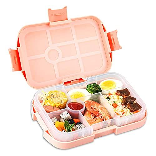 otutun Bento Box para niños, Fiambrera Caja de Bento con 6 Compartimentos Lunch Box Infantil Caja de Almuerzo de Plástico Fiambreras Bento Niños Reutilizable Caja de Bento para Niños y Adultos