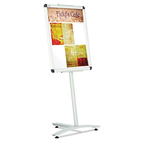 Quartet Improv Lobby Clip Frame Sign, 18 x 24 Inches, Aluminum Pedestal Base (LCF2418)