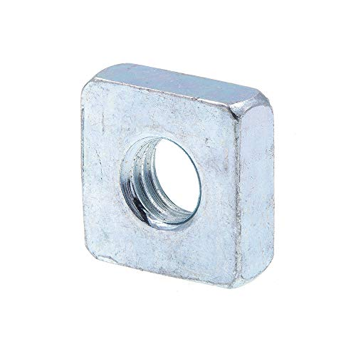 Prime-Line 9192505 Square Nuts, #10-32, Zinc Plated Steel, 10-Pack