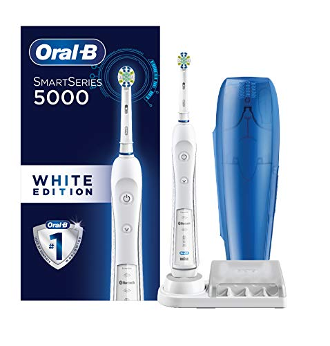 Oral-B Pro 5000 Smartseries Power Rechargeable Electric Toothbrush with Bluetooth Connectivity, White Edition