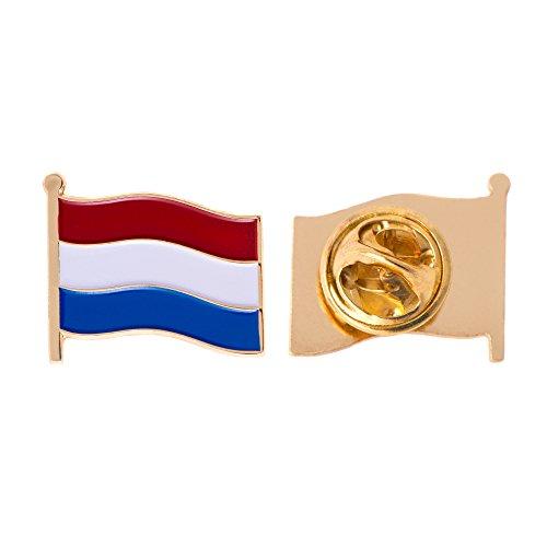 Netherlands Country Enamel Made of Metal Souvenir Hat Men Women Patriotic (Waving Flag Lapel Pin)