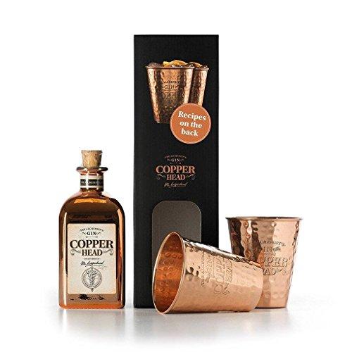 Copperhead London Dry Gin inklusiv 2 Kupferbecher (1 x 0.5 l)