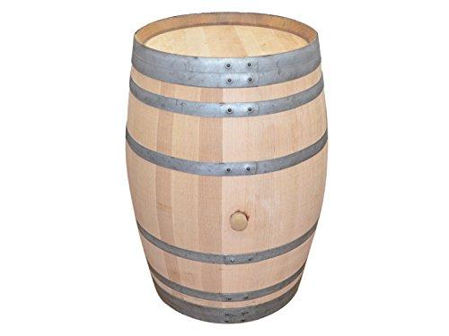 Temesso Barril Mesa en Madera de Roble con 225 litros, Madera reacondicionada (sin fijación de Anillos)