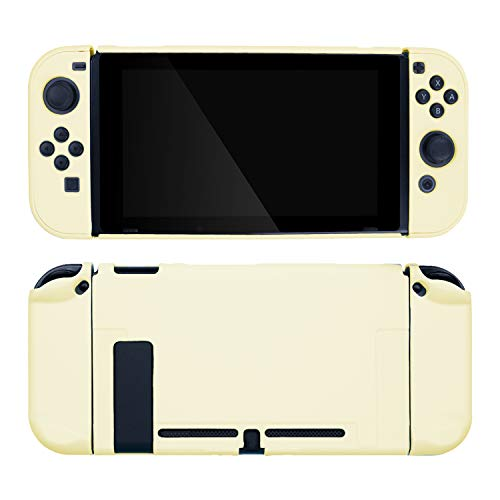 GeekShare Switch Protective Case Slim Cover Case for Nintendo Switch and Joy Con - Shock-Absorption and Anti-Scratch (Yellow)