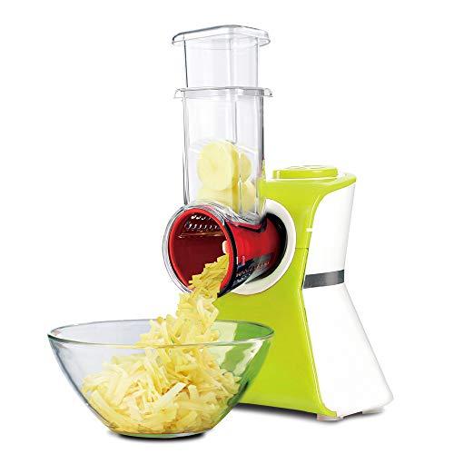 Fruit en groentesnijder slamaker grater elektrisch gekruiste spiraal kaas knoflook voor wortelen drum keukenschaaf draaien 5 messen