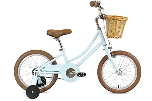 FabricBike Kids - Bicicleta con Pedales para niño y niña, Ruedines de Entrenamiento Desmontables, Frenos, Ruedas 12 y 16 Pulgadas, 4 Colores (Classic Blue, 16': 3-7 Años (Estatura 96cm - 120cm))